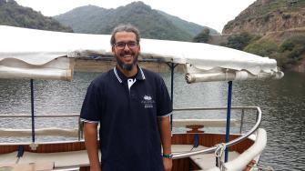 Piloto da embarcación turistica Brandán da Adega Algueira